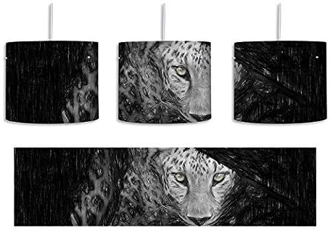 Neugieriger Gepard Bunstift Effekt inkl. Lampenfassung E27, Lampe mit Motivdruck,