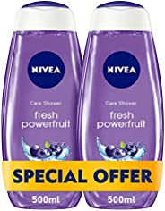 NIVEA, Body, Shower Gel, Powerfruit Fresh, 2 x 500ml