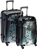 """Travelite Koffer Trolley-set L/M, Limited Edition """"wassertropfen"""", 75 cm 153 L, Schwarz 70530-01"""