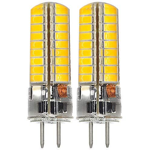 MENGS® 2 Stück GY6.35 6W LED Lampe 72x5730 SMD Warmweiß 3000K AC/DC 12V Mit Silikon Mantel -