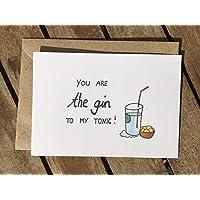 Karte - Freundschaft - Fernbeziehung - Gin to my tonic - beste Freundin
