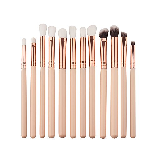 12Pcs Mini Kosmetik Augenbraue Lidschatten Pinsel Vovotrade Make-up Pinsel Sets Kits Tools (Make-up-tools Kit)