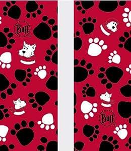 Buff Small Dog Multi Functional Headwear - Red