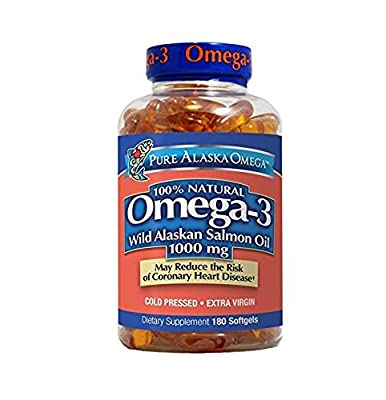 Pure Alaska Omega-3 Wild Alaskan Salmon Oil 1000Mg Softgels 180-Count by KEE HOLDINGS Inc.