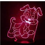 Animazione lampada 3D Garfield The Dog Odie simpatico regalo per bambini base luminosa lampada da notte a led con atmosfera da dropship più venduta