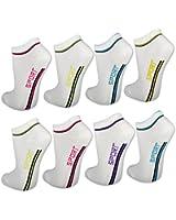 8 / 12 / 20 Paar Damen Sneaker Socken Weiß Baumwolle Damensocken Sportsocken - 36755 - sockenkauf24