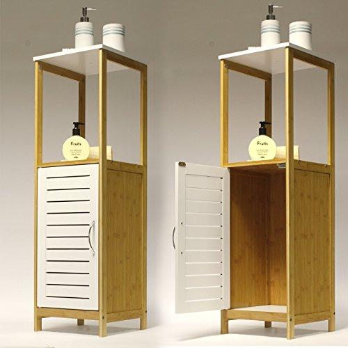 Furano-installazione Bamboo bianco bagno Floor cabinet by Showerdrape