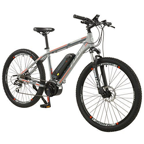 "51FDrdAG5OL. SS500  - Surge Mens 27.5"" Wheel Mid Drive Electric Mountain Bike, 8 Speed shimano Acera Gears"