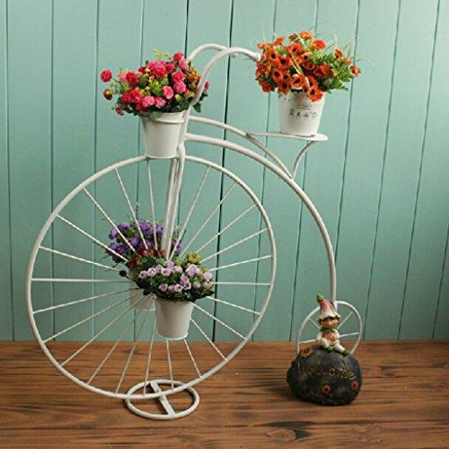 Portavasi portaoggetti per fioriera grande bianca portabiciclette per biciclette da interno giardino esterno per esterno planter alta per ripiani 4 livelli (colore : bianca)