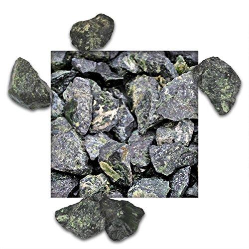 25 kg Basaltsplitt Amazon-Grün Gartensplitt Ziersplitt Deko Marmor Dekoration Splitt Körnung 32/56 mm
