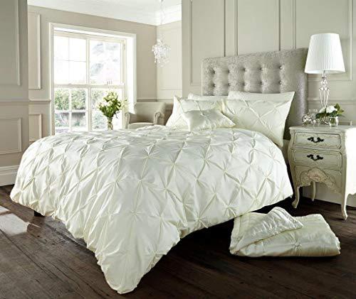 Luxus Bettwäsche Sets bettbezug set Doppel Größe 200 x 200 cm Bett mit Kissenbezug gedruckt Polybaumwolle reversibel ,Alford Sahne