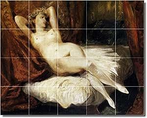 Eugene Delacroix Nudes Keramik fliesenwandbild 9. 61x 76,2cm (20) 6x 6Keramik Fliesen.