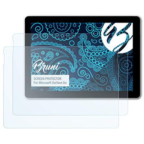 Bruni Schutzfolie kompatibel mit Microsoft Surface Go Folie, glasklare Bildschirmschutzfolie (2X)