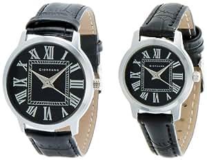 Giordano Analog Black Dial Pair Watch - P6888