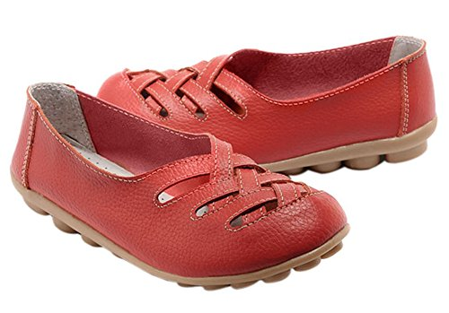 Fangsto  Flats,  Damen Sneaker Low-Tops Rot