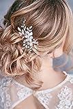 Kercisbeauty fatto a mano da damigella Flower Girl Simple bianco fiore e foglia spille per capelli copricapo per matrimoni e feste