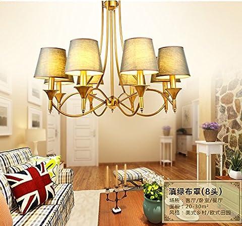 DHY-Kronleuchter, Wohnzimmer, Schlafzimmer Deckenleuchte, Nordic vereinfachte Kronleuchter, pastorale Mediterranen Stil Lampen