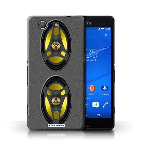 Kobalt® Imprimé Etui / Coque pour Sony Xperia Z3 Compact / Autoradio conception / Série Haut-Parleur dessin Autoradio