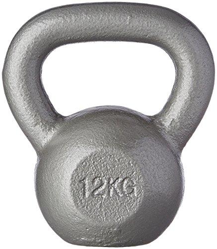 Gorilla Sports Fitnessgerät Gusseisen Kettlebell silber-grau 16kg, 10000338;4