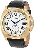 A-Line - 80007-YG-02-BK - Pyar - Montre Homme - Quartz Analogique - Cadran Gris - Bracelet Cuir Noir