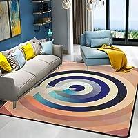 HYRL Alfombra nórdica Abstracta geométrica, 3D Impreso Alfombra de Gran tamaño para casa Moderna Vida Alfombra Espesar Sala de Estar alfombras Arte Decor,#13,140200