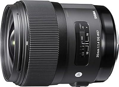 Sigma 35 mm / F 1,4 DG HSM - Objetivo para Canon (distancia focal fija 35mm, apertura f/1.4) color negro