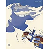 Wee Blue Coo Travel Winter Sport Snow Ski Chalet Alps Austria Art Print Poster Wall Decor 12X16 inch...