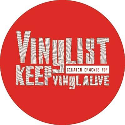 Dmc Vinylist Keep Vinyl Alive Turntable Slipmats - Red With White Print