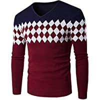 Suéter de hombre Invierno Manga larga Suéter casual Jersey de punto caliente Jersey de punto ajustado LMMVP