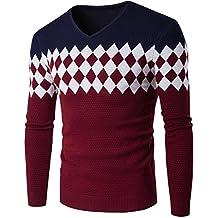 Suéter de hombre Invierno Manga larga Suéter casual Jersey de punto caliente Jersey de punto ajustado