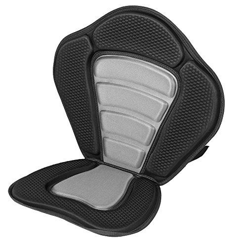 Kajak Sitz, Komfortable Deluxe Gepolsterte Kajak Sitz + Abnehmbare Kanu Rückenlehne Sit Bag -