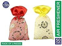Miracle Plastic Perfumes,Rose Kesar Chandan and Sandal Fragrance Car Air Freshener,12 Months Perfume,Set of 2 Pieces