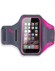 "iPhone 6 / 6s Brassard - Haissky Brassard de sport Running With Key Holder, Locker Cable, Cartes & Porte-monnaie pour l'iPhone 6 / 6S, Samsung Galaxy S6 / S6 Edge-4.7 """