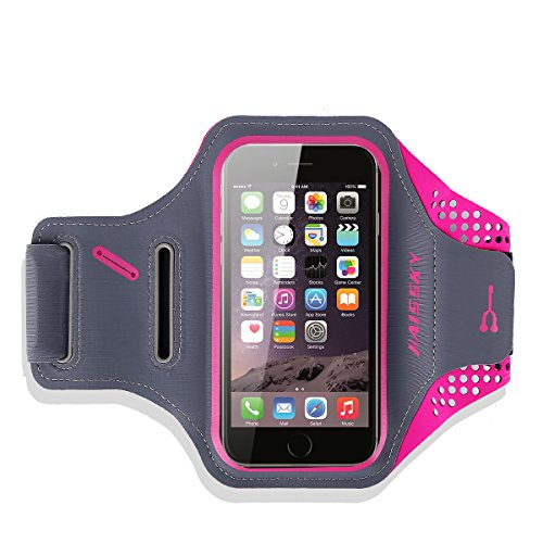 Fascia Sportiva da braccio-Haissky fascia di sport running with Key Holder, Locker Cable, carte & portamonete Sporty Bracelet per iPhone...
