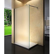 Yellowshop – Cristal para cabina de ducha fija Walk-in, mate, de 8