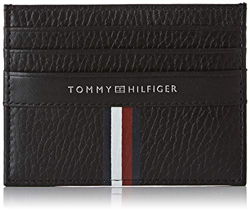 Tommy Hilfiger Corporate Leather Cc Holder - Portafogli Uomo, Nero (Black), 1x1x1 cm (W x H L)