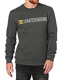 DC Sweatshirts - DC Minimal Crew Sweatshirt - Heather Charcoal