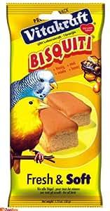 Vitakraft - 10318 - Bisquiti Miel - Tout Oiseau - 50 g