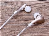 Kopf-Handys Buds Kopfhörer 3,5mm W/Mikrofon. Freisprecheinrichtung Call kompatibel mit Samsung Galaxy S6Edge kompatibel Kopfhörer, Golden 3,5mm In-Ear-Stereo-Ohrhörer w/Mikrofon. Freisprecheinrichtung Call