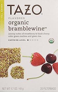 Tazo Flavored Organic Bramblewine Green Rooibos and Green Tea Blend, 20 Filter Bags, 1.7 Oz.