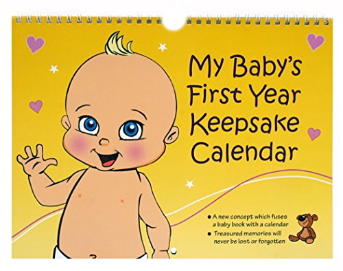 Baby's First Year Keepsake - The greetings gift idea that goes beyond a card for value & keeps safe the precious memories of a newly born baby