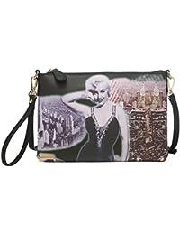 Big Handbag Shop Sac à main en imitation cuir très grand sac de soirée d'embrayage