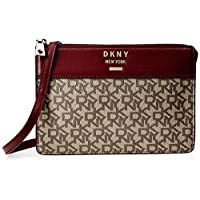 DKNY Women's Crossbody, Ecru/Blood Red - R93EJD69