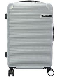 Gran maleta de equipaje Guido Vietri viajes color gris