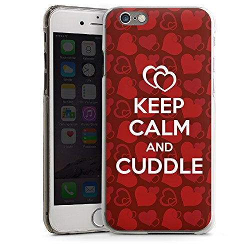 Apple iPhone 4 Housse Étui Silicone Coque Protection Amour câlin Phrases Reste calme CasDur transparent