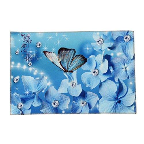 Mariposas puerta de la cocina Alfombras Baño de espuma de memoria absorbente alfombrilla antideslizante
