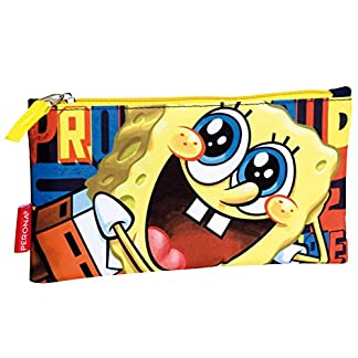 SpongeBob Squarepants Estuche para lápices con la Cara de Bob Esponja (Amarillo)