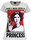 Star Wars Damen Star Wars Prinzessin Leia T-Shirt Kurzarm Größe Small