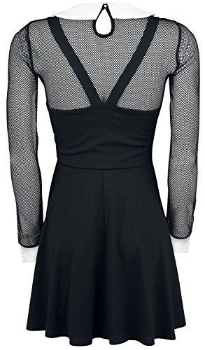 Jawbreaker Fishnet Collar Dress Abito nero Nero