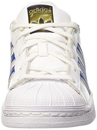 M Ftwwht Foundatio Sapatos criança Basquetebol De Estrela ftwwht Unisexo Azul Adidas Branco 7w1g0B